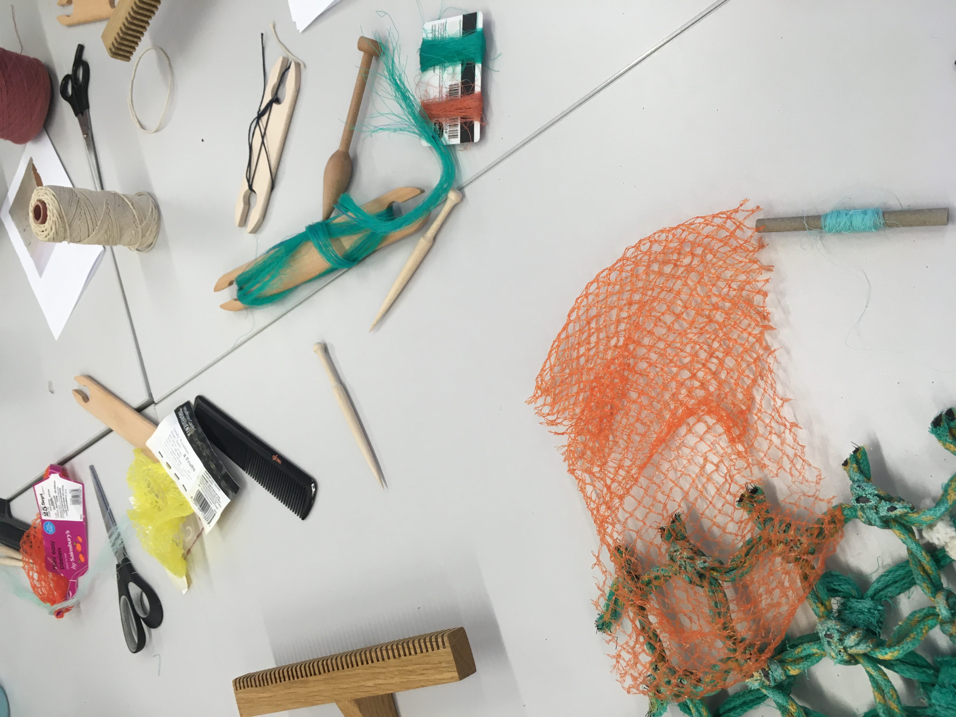Netting Weaving with Beach Clean Project